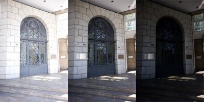 Three different exposures